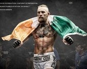 Large Conor Mcgregor Ufc Sport Contemporary Canvas Wall Art Print Ready to Hang