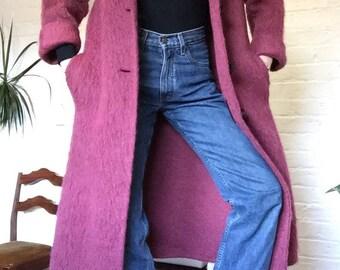 Thinkin Pink mohair coat