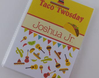 Photo Album Birthday Taco Twosday Fiesta Mexican gift Grandmas Brag Book Personalized Boy Birthday 2nd Second Two 4x6 or 5x7 picture #808