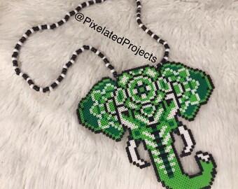 Mandala Elephant Kandi Necklace