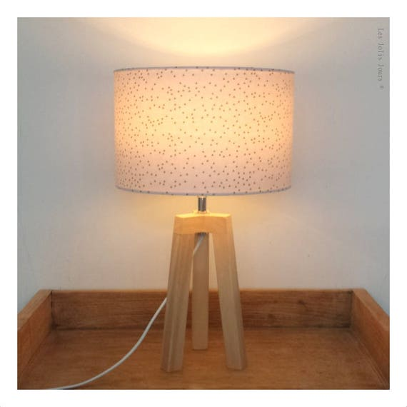Reserved for Coralie #Lampe tripod White Gold