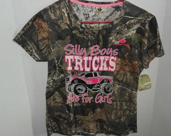 Silly Boys Trucks are for Girls, Ladies T-Shirt