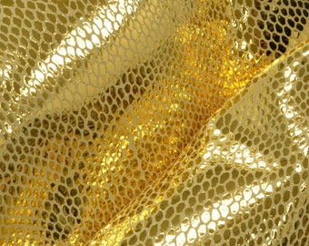 "Fashion Burmese Gold Leather Pig Hide 12"" x 12"" Project Piece 1-1 1/2 oz TA-56649 (Sec. 6,Shelf 2,B)"
