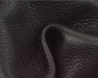 "NZ Deer Sale Smokey Black Leather New Zealand Deer Hide 12"" x 12"" Project Piece 4-4 1/2 ounces TA-56217 (Sec. 6,Shelf 4,B)"