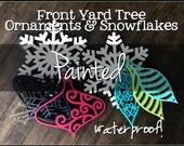 Painted Outdoor Ornaments...