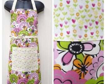 Kids Aprons, reversible with pockets