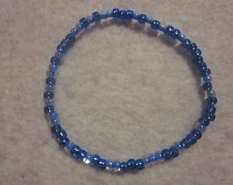 Blue Seed Bead Bracelet