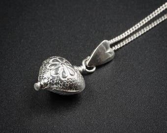 Karen Hill heart pendant necklace sterling silver pendant necklace pendant chain silver karen hill heart pendant necklace Thai silver