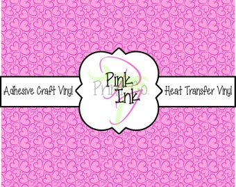 Valentine's Printed Vinyl, Heart Patterned Adhesive Vinyl and Heat Transfer Vinyl in pattern 1013