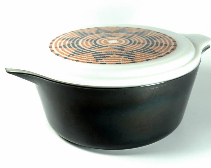 Featured listing image: Mid Century Pueblo Design Pyrex 1974 Promotional Casserole Dish