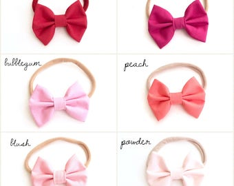 Bow Headbands for baby (several colors available), bows, headband, baby, girl, gift, baby shower