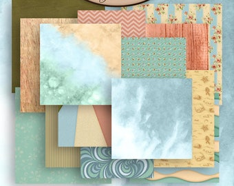Digital Scrapbooking, Patterned, Paper: By The Sea