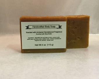 Ambered Sandalwood Soap enriched with Shea Butter
