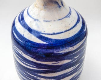 Cobalt Stained Bud Vase