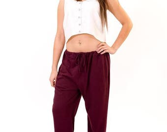 Womens Bamboo  Yoga  Pants, Lounge pants, Dance pants, Plus size.