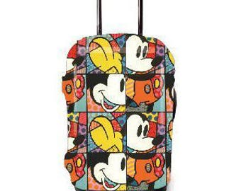 Luckiplus Cartoon Luggage Cover Suitcase Protective Cover Fits 18-32 Inch Luggage
