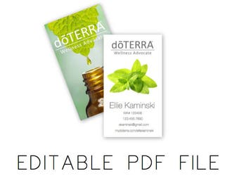 Essential Oils Business Cards - Double Sided | EDITABLE DIGITAL FILE