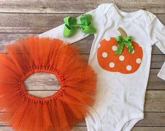 Pumpkin Patch Outfit, baby girl costume, Fall outfit, baby costume, Halloween Outfit, girl fall outfit, pumpkin outfit, pumpkin patch