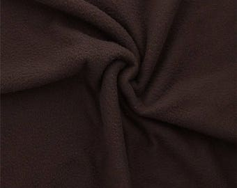 Light chocolate brown fleece