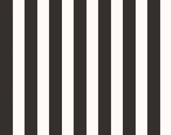 Yes Please Stripes Black, My Mind's Eye for Riley Blake Designs