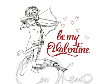 MACHINE EMBROIDERY DESIGN - Be my Valentine