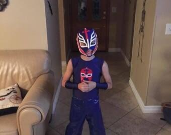 Boy's Lucha Libre Costume, Luchador Costume, Wrestler Costume, Size 6