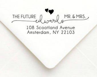 Personalized Self Inking Return Address Stamp - self inking address stamp - Custom Rubber Stamp, wedding address stamp A58