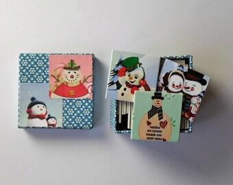 memory game christmas snowman matching game