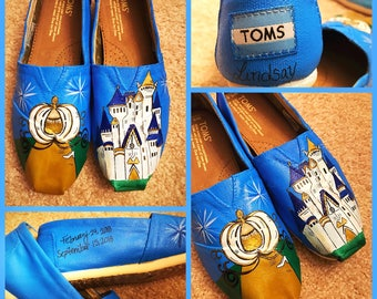 Custom painted Cinderella Toms. Designed and personalized just for you!