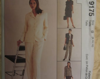 McCall's 9175 Women's Jacket, Top, Skirt and  Pants Misses Sizes 8, 10, 12