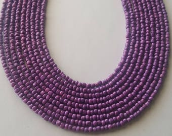 Purple seed bead necklace - purple bead necklace - purple necklace - purple - seed bead necklace - bead necklace