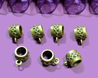 10 bails pattern medieval bronze 10x10mm