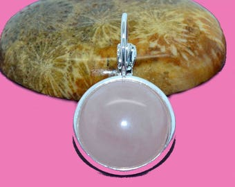 Cabochon round 14mm rose quartz