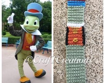 Disney inspired Jiminy Cricket Scarf