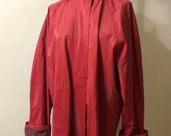 Red raincoats | Etsy