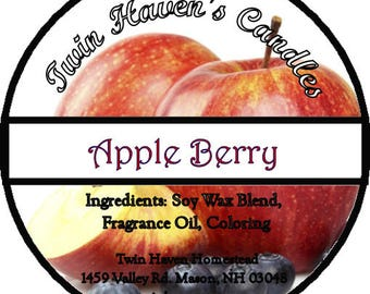 Apple Berry Scented Candles