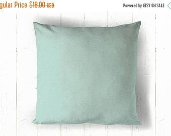 CLEARANCE Solid Blue Pillow Cover - 18 x 18, One, Village Blue Pillow, Blue Pillow, Robin Egg Blue Pillow
