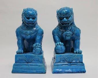 Foo Dogs - Beautiful blue teal color
