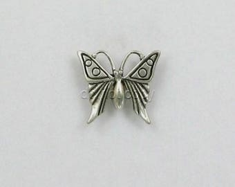 Sterling Silver 16mm Butterfly Charm