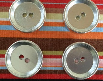 Silver Buttons 19mm x 4