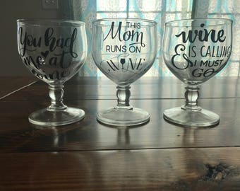 wine glasses, mugs, Tumblrs