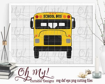 School Bus Layered Svg Eps Dxf Png Cutting Files