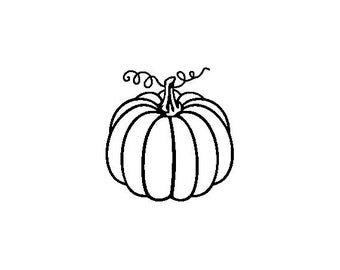 "Small Pumpkin Stamp, card stamp, gift tags stamp, label stamp, stationary stamp, halloween stamp, festive stamp, 0.75"" x 0.7"" (minis81)"
