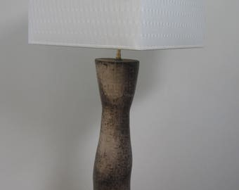 Lamp with squares, brown and white