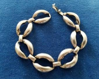 Vintage Sterling Danecraft Bracelet, Modernist Open Link Design