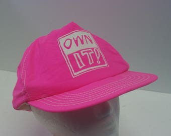 90s OWN IT! snapback hat cap pink own it