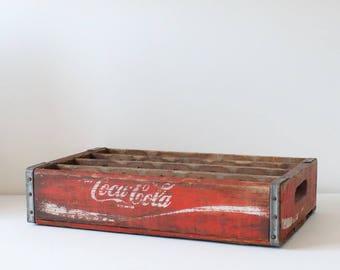 Vintage red Coca Cola soda crate
