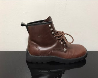 Vintage Tommy Hilfiger Square Toe Lace Up Booties, size 7.5