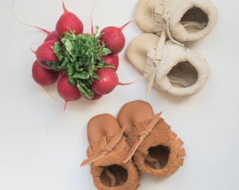 Peanut butter brown moccasins