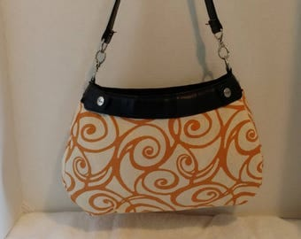 Orange Swirls Suite Skirt ONLY for New Thirty-One Suite Purse